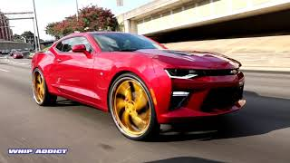 Download WhipAddict: 2016 Chevrolet Camaro SS on Gold Corleone Forged Asaro 26s Video