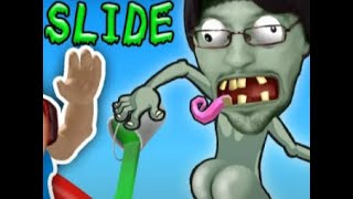 Download HIT THE BUTT 💩 ROBLOX Dr. Zomboss Slime Slide Challenge! FGTEEV Boys play PVZ Zombies Ripoff #24 Video
