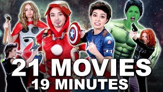 Download AVENGERS 101 Everything YOU NEED TO KNOW - Merrell Twins (MCU) featuring Brie Larson | Karen Gillan Video