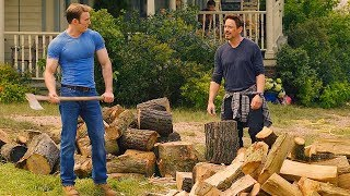 Download Tony Stark & Steve Rogers Chopping Wood Scene - Avengers: Age of Ultron (2015) Movie CLIP HD Video