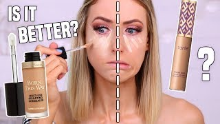 Download WORTH THE HYPE?! I Tried the NEW Too Faced FULL COVERAGE Concealer vs. Tarte Shape Tape?! Video