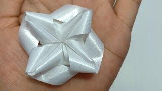 Download วิธีพับเหรียญโปรยทาน ดอกกาสะลอง/Diy flower ribbon Video
