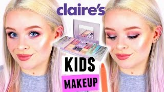 Download FULL FACE USING ONLY KIDS/CLAIRE'S MAKEUP! | sophdoesnails Video