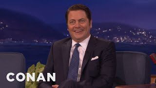 Download Twitter Hates Mustache-Free Nick Offerman - CONAN on TBS Video