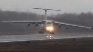Download Ilyushin IL-76 strong Crosswind landing. Unbelieveable Russian Pilot skills ! (Watch in HD!) Video