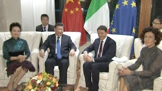 Download Chinese President Meets Italian PM Video