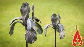 Download Blacksmithing - Making an iris flower Video