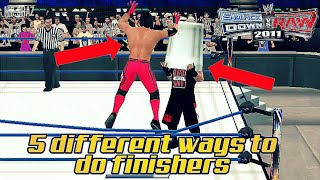 Download 5 different ways to do finishers in svr 2011/2k18 Wwe2k11 Video