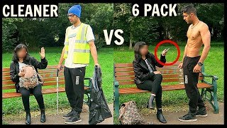 Download CLEANER vs 6 PACK Picking Up Girls (SOCIAL EXPERIMENT) Video