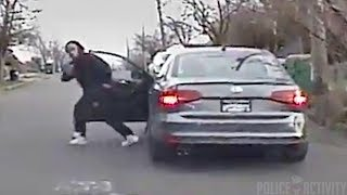 Download Dashcam Video Shows Suspect Opening Fire On Cops After Chase Video
