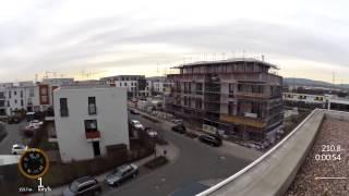 Download Über den Dächern von Frankfurt-Riedberg Video