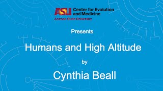 Download Humans and High Altitude | Cynthia Beall Video