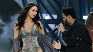 Download Bella Hadid & Ex The Weeknd REUNITE On The Runway At 2016 Victoria's Secret Fashion Show Video