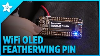 Download WiFi OLED FeatherWing Brooch Video