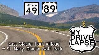 Download The Drive to Glacier, on the east side: Montana 49, US 89 Video