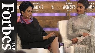 Download Priyanka Chopra And Indra Nooyi On Breaking Barriers And Engaging Billions | Forbes Live Video