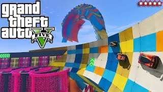 Download GTA 5 100% IMPOSSIBLE MODDED RACE?? + Batman Stunt Race - GTA V Funny Moments & FAILS Video