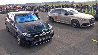 Download 612HP Mercedes-AMG E63 S Estate vs 560HP Audi RS6 Avant C7 Video