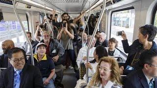 Download LA's Rush Hour Showdown: Car vs. Train Video