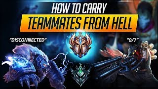 Download CARRY TEAMMATES FROM HELL: Inting, DC, Plat vs Challenger | League of Legends Guides Video