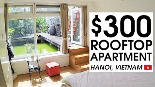 Download $300 TINY ROOFTOP APARTMENT TOUR in HANOI | LIFE IN VIETNAM Video