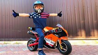 Download BABY Biker Unboxing Test Drive Sportbike Лев Купил Байк Детский мотоцикл распаковка Video
