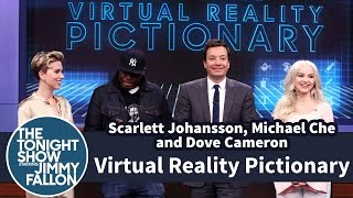 Download Virtual Reality Pictionary with Scarlett Johansson, Michael Che and Dove Cameron Video