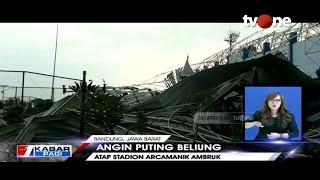Download Angin Puting Beliung Terjang Bandung, Akibatkan Stadion Arcamanik Ambruk Video
