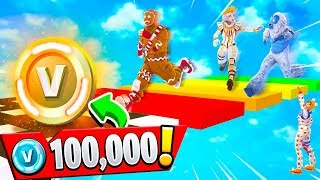 Download IF MY FANS WIN.. THEY GET 100K VBUCKS! (Fortnite Rainbow Parkour Challenge) Video