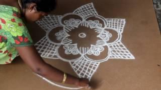 Download அடுக்கு பூ ரங்கோலி கோலம் | தமிழ் கோலங்கள்| tamil kolam Video