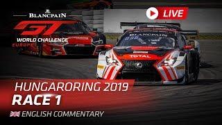 Download RACE 1 - HUNGARY - BLANCPAIN GT WORLD CHALLENGE EUROPE 2019 - ENGLISH Video