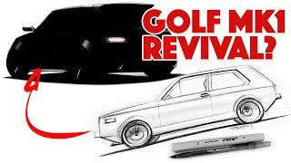 Download Sketching a modern day Golf MK1 type hatch from scratch Video