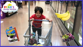 Download Kid Size Grocery Shopping trip and learn how to count! Ryan's Family Review Video