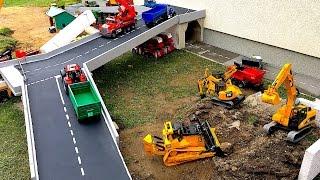 Download BRUDER Toys RC Truck Tractors new bridge in village Bruder Video