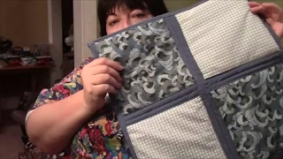 Download How to Quilt As You Go (QAYG) with Sashing and Self Binding - Sewing Tutorial Video