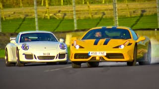 Download Ferrari 458 Speciale vs. Porsche 911 GT3 - Fifth Gear Video