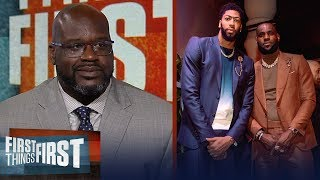 Download Shaq disagrees LeBron - AD are the best duo, talks state of the Lakers | NBA | FIRST THINGS FIRST Video