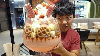 Download MASSIVE Ice Cream Sundae, 22 SCOOPS!!! in Bangkok Thailand! Video