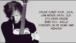 Download Ed Sheeran - Thinking Out Loud Lyrics With Music Video