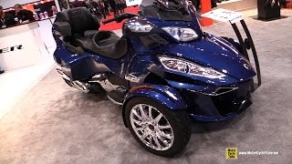 Download 2017 Can Am Spyder RT Limited - Walkaround - 2017 Toronto Motorcycle Show Video