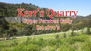 Download RF Kerr Quarry, Upper Ferntree Gully, Melbourne Australia. Video