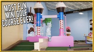 Download THE BEST AND MOST FUN MINI GOLF COURSE EVER! - THE CRAZIEST HOLES IN ONE! | Brooks Holt Video