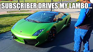 Download CONTEST WINNER DRIVES THE LAMBORGHINI TO SEE PROJECT HURACAN... Video