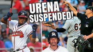 Download Ronald Acuna Jr HIT BY PITCH, Urena SUSPENDED 6 Games! MLB Umpire Caught Bat Flip? MLB Recap Video