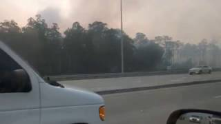 Download Naples Wildfire | Collier Blvd & Rattlesnake Hammock Road | near Picayune Strand State Forest Video