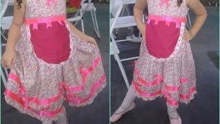 Download DIY:Vestido de festa junina improvisado rápido Video