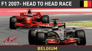 Download Assetto Corsa F1 Mods - Ferrari F2007 VS McLaren MP4-22 @ Spa Video