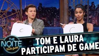 Download Tom Holland e Laura Harrier adivinham os nomes BR dos super-heróis | The Noite (05/07/17) Video