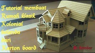 Download tutorial membuat miniatur rumah dari karton board Video