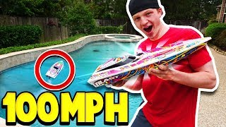 Download 100MPH RC BOAT vs MY POOL! *bad idea* Video